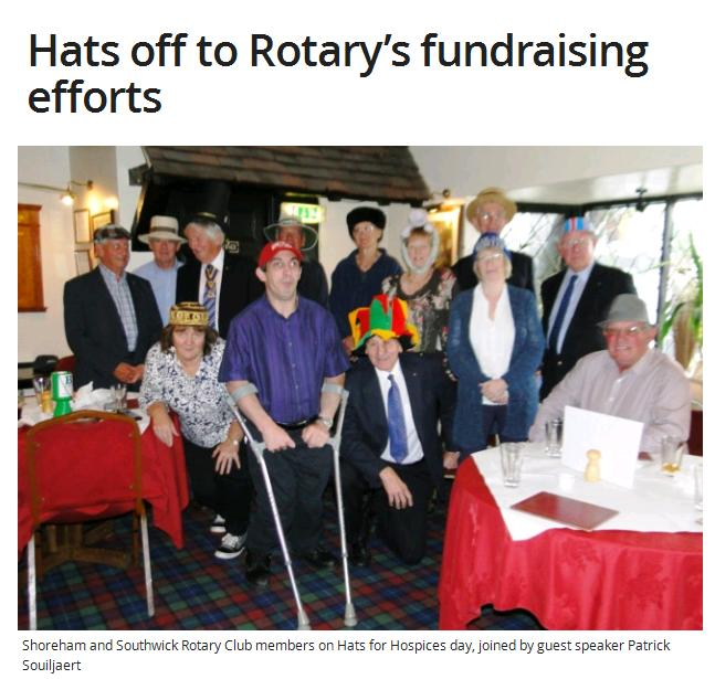 Hats off to Rotarys fundraising efforts