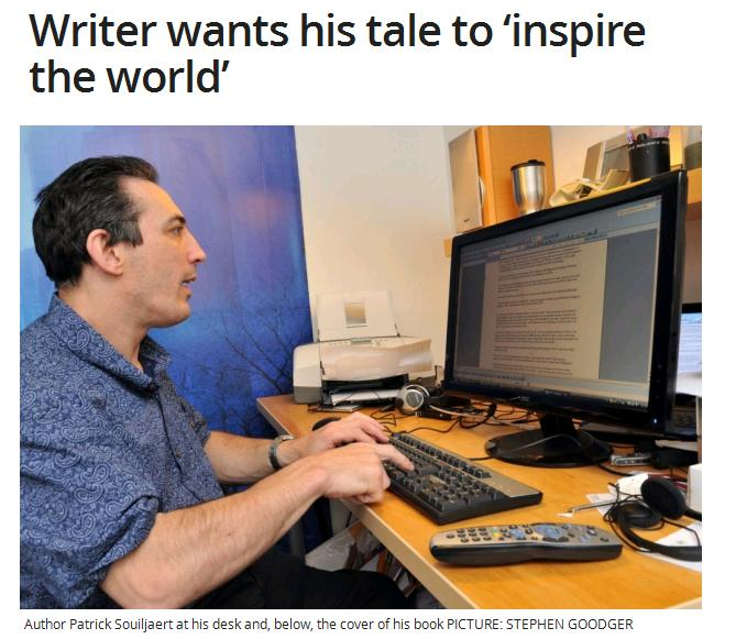Writer wants his tale to inspire the world